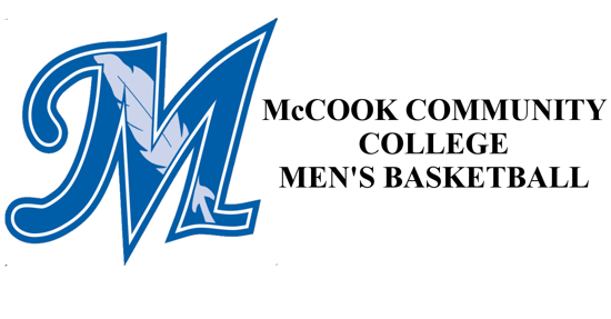 McCook Community College Logo on the left with the words McCook community college basketball mens on the right
