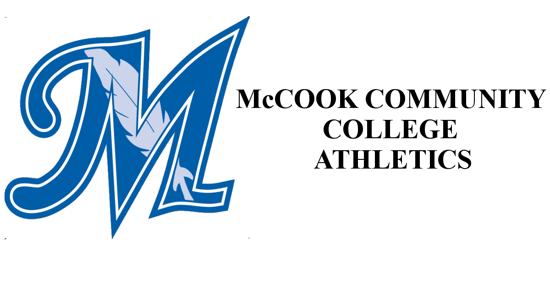 McCook Community College Logo on the left with the words McCook community college athletics on the right.